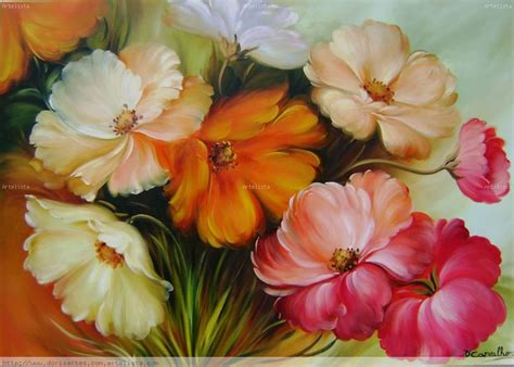 cuadros al oleo de flores abstractas imagui