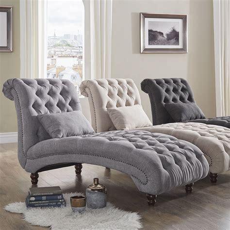 knightsbridge tufted oversized chaise lounge  inspire
