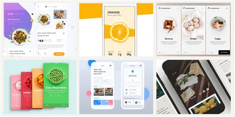 Mobile Web Design Inspiration by 20 Fresh Food Mobile App Designs For Your Inspiration