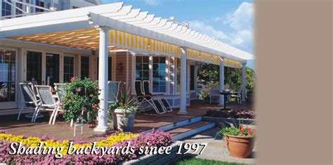 canopy retractable deck awnings shadetree canopies