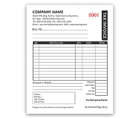 dl envelope size bill book design for invoice a6 offset or digital printing