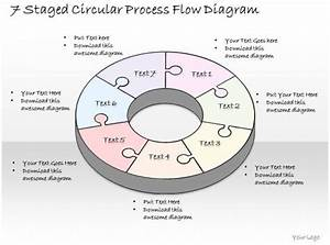 1814 Business Ppt Diagram 7 Staged Circular Process Flow