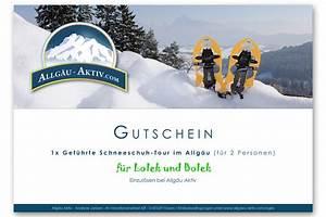 Gutschein Skifahren Vorlage : gutschein gef hrte schneeschuhwanderung allg u aktiv ~ Markanthonyermac.com Haus und Dekorationen