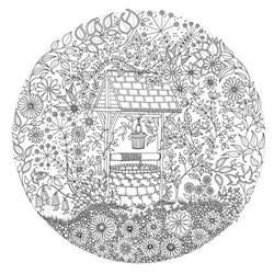 secret garden inky treasure hunt and coloring book in