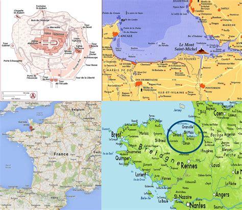 Carte Mont Michel Malo by Carte Mont St Michel Plan De Mont St Michel