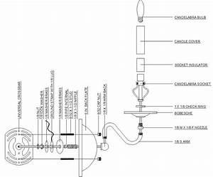 Wall Sconce Diagram  U2013 Grand Brass Lamp Parts  Llc
