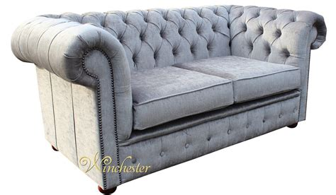 2 seater settee second chesterfield 2 seater settee perla illusions grey velvet