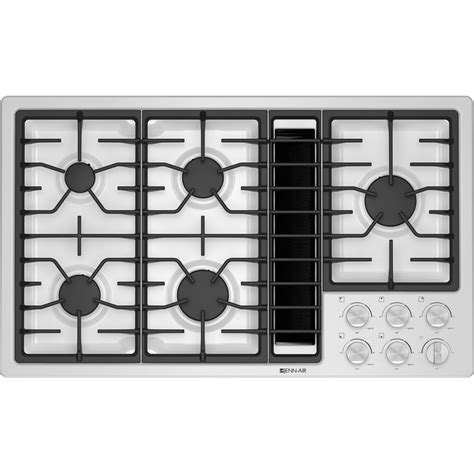 jgdbw jenn air  downdraft gas cooktop white  white slyman brothers appliance centers