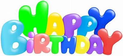 Birthday Happy Colorful Clipart Transparent Dogum Gunu