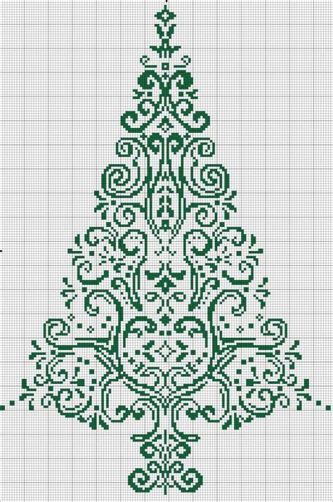 cross stitch tree christmas pinterest