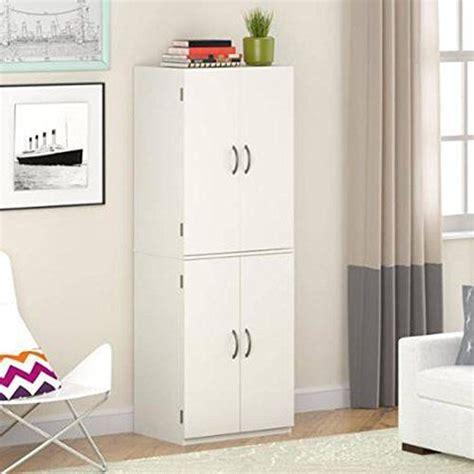 4 Door Kitchen Pantry White Gracelove Kitchen Pantry Storage Cabinet White 4 Door