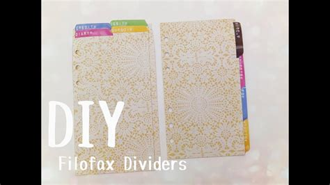 diy filofax dividers  tabs   letter label maker