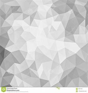 Gray And White Low Poly Background Design With Triangle ...