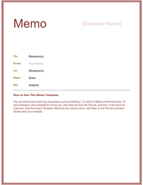 elegant memo template word templates meeting memo template non profit board