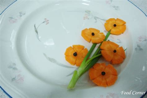 A Flower Bunch From A Carrot Food Corner