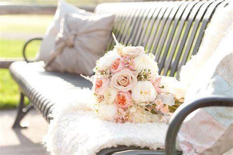 beautiful blush shabby chic inspired wedding flowers