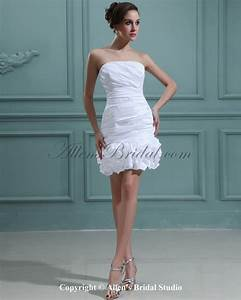 plus size short strapless wedding dress with long train With short strapless wedding dresses