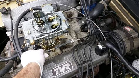 tvr 4 0 v8 n c k 3948cc 400se engine with holley 390 carb on offenhauser 360 manifold
