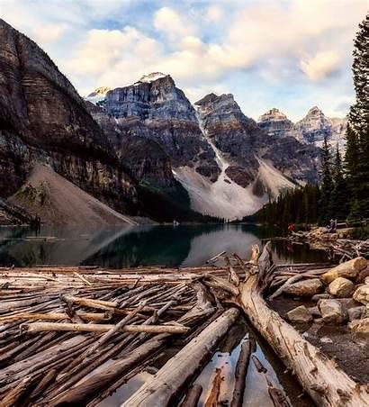 Banff Park National Canada Scenery Lake Wood