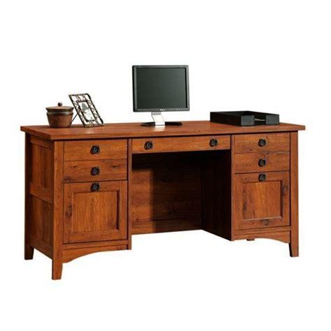 mission craftsman style computer credenza desk furniture   craftsman desks desk plans