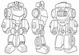 Rescue Coloring Bots Pages sketch template