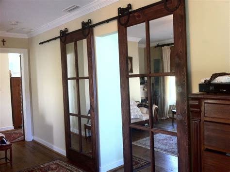glass barn doors interior we currently a standard door between the