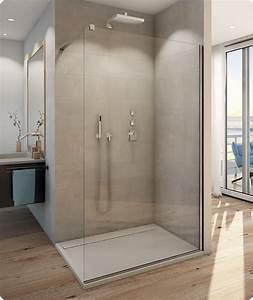 Paroi de douche fixe walk in verre paisseur 8 mm ronal for Porte douche ronal