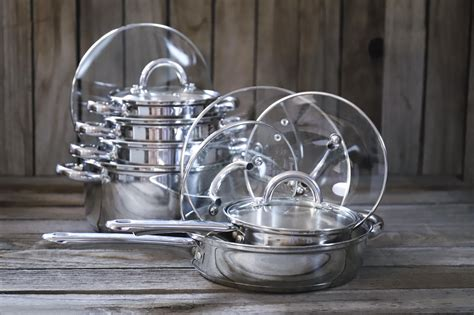 cookware steel stainless cook piece sets