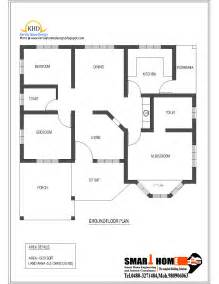 One Floor House Plan by Single Floor House Plan And Elevation 1320 Sq Ft