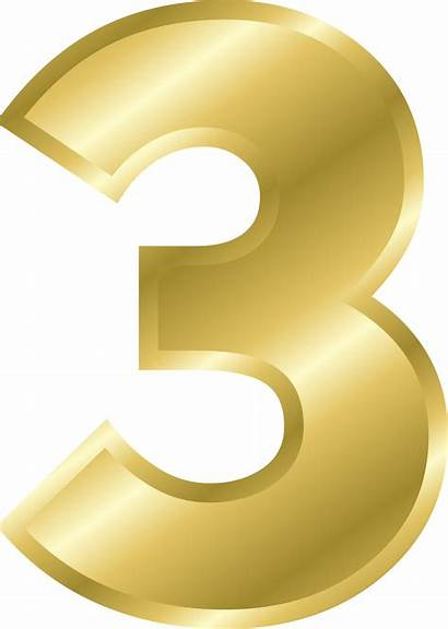 Numbers Clipart Numero Number Yellow Block Dourado