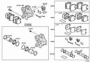 Lexus Sc 430 Rear Brakes Parts Diagram