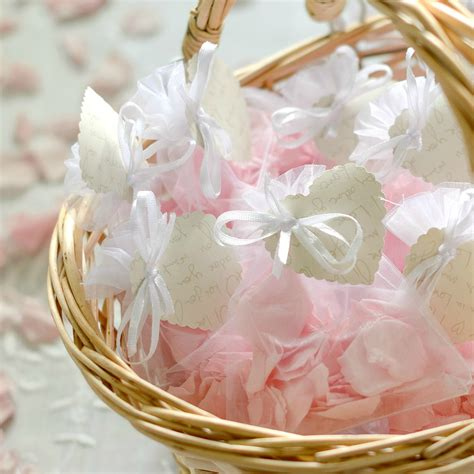 flower girl basket  pink rose petal confetti