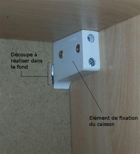 Fixation meuble cuisine haut sur placo ~ Image Sur le