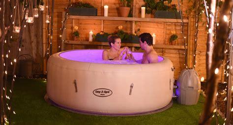 spa tub lay lazy paris inflatable saluspa led bestway tubs lights light jacuzzi portable lighting vegas garden pool diy spas