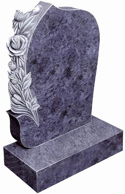 Carved Antique Rose Headstone Granite Cross Celtic
