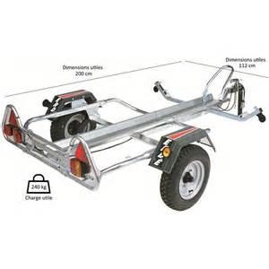 remorque porte moto 1 rail 123 remorque