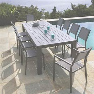 Table De Jardin Exterieur : table de jardin en bois leclerc salon de jardin exterieur ~ Premium-room.com Idées de Décoration
