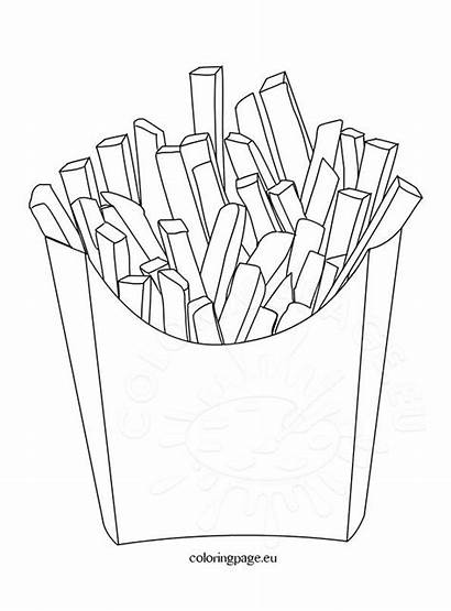 Chips Coloring Potato Pages Drawing Printable Template