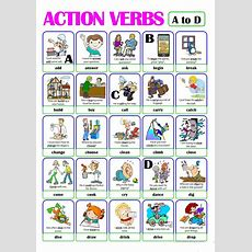 Pictionary  Action Verb Set (1)  From A To D Worksheet  Free Esl Printable Worksheets Made By