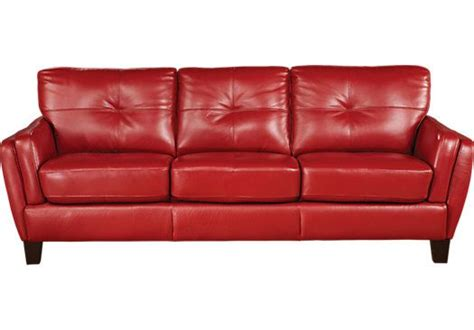 rooms to go leather sofa and loveseat shop for a cindy crawford home san sorrento red sofa at