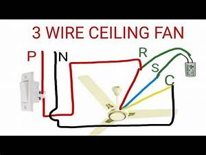 3 Wire Ceiling Fan Connection