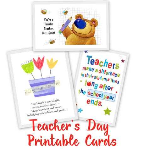 awesome teachers day card ideas   printables