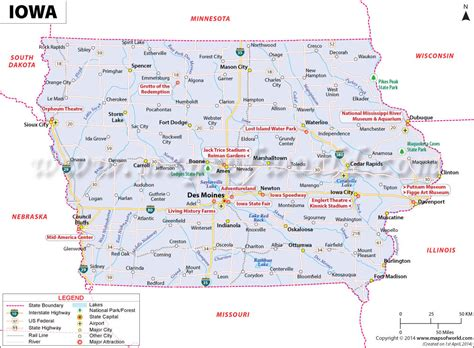 Buy Reference Map of Iowa