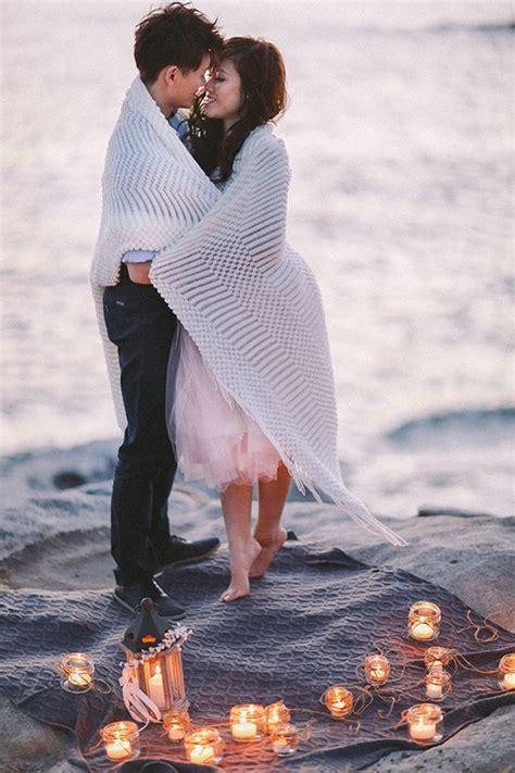 romantic beach engagement photo shoot ideas deer