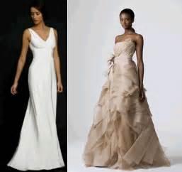 taupe wedding dress white sheath v neck wedding dress vera wang taupe ballgown wedding dress onewed