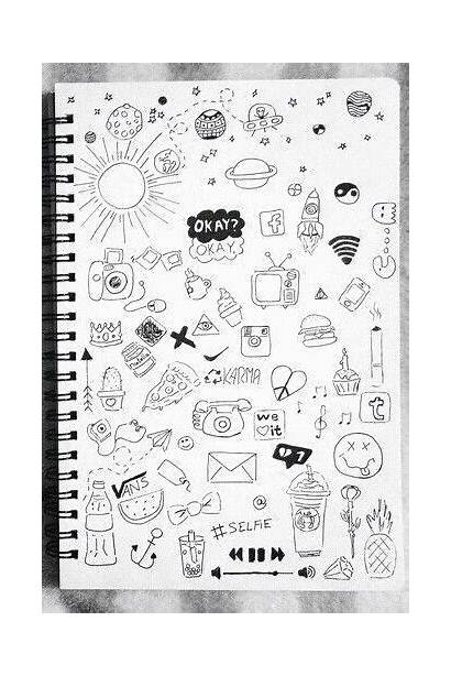 Draw Cool Easy Sketchbook Doodle Drawings Notebook