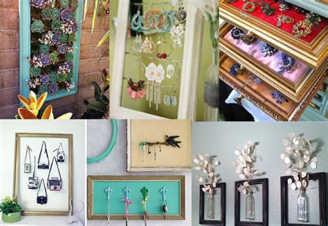 Diy Handmade Home Decorations Reuse Recycle 3 by How To Reuse Picture Frames Into Home Decor