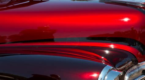 candy apple red metallic car paint