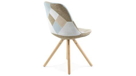 chaise design pied bois nordi chaise patchwork pied bois