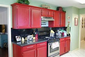 Red Kitchen Cabinets on Modern Design - Traba Homes